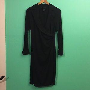 Little black dress. Wrap w/ long sleeves. Sz. 5/6